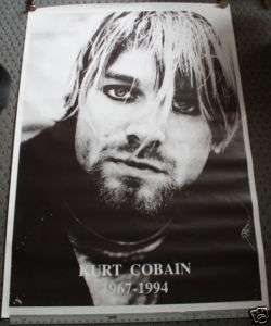 KURT COBAIN nirvana Promotional SUBWAY SIZED POSTER