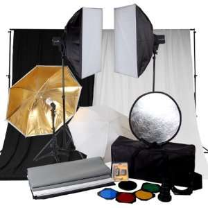 Photo Studio Kit Soft Box Umbrella Strobe Light Backdrop