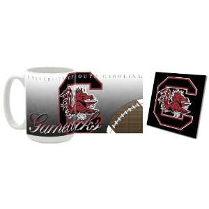 South Carolina Gamecocks Mug and Coaster FOOTBALL Sports
