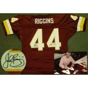 John Riggins Signed Washington Redskins Jersey Sports