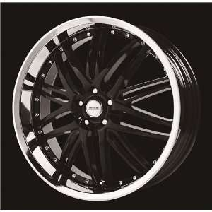 VERDE WHEELS KAOS BLACK/CHROME LIP 5X4.5 +38   18X8
