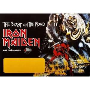 Iron Maiden   Beast On The Road 1982   CONCERT   POSTER
