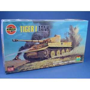 Airfix 172 Toy Soldiers WWII German Tiger I Tank Toys