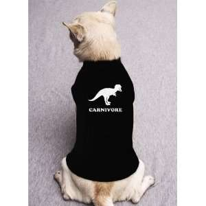 CARNIVORE DINOSAUR meat eater bacon love food DOG SHIRT