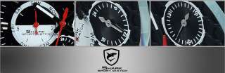 SHARK Automatic Mechanical Date Day Rubber Men Sports Watch Black F1