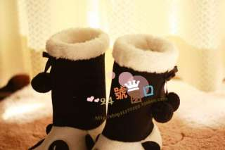 Panda Boot Women Slippers Warm Soft Adorable Winter Girl Gift