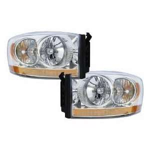Dodge Ram 1500 2500 3500 Pickup Headlights Headlamps Driver/Passenger