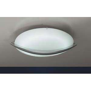 PLC Lighting 21019 Enzo Nickel Flush Mount