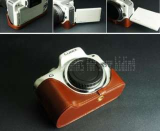 genuine real leather bag case cover for Panasonic Lumix DMC G3 camera