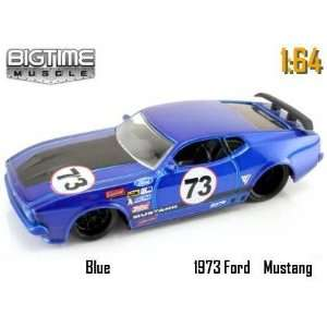 Jada Dub City Big Time Muscle Blue Racing 1973 Ford Mustang Mach 1 1