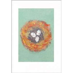 Easter Greeting Card   Nest With Eggs Health & Personal