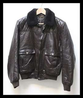 VTG Mens G 1 Military Navy Pilot Leather Sheepskin Bomber Jacket