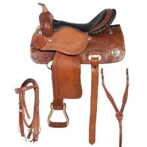 Ostrich Seat Barrel Racing Horse Saddle 15 16
