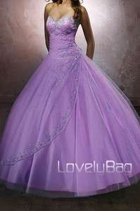 Lilac Pretty Formal Gril Party Gown Evening Prom Dress