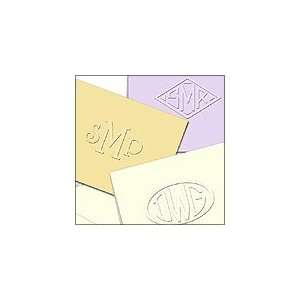 Custom Embossed Stationery Personalized, Style Monograms