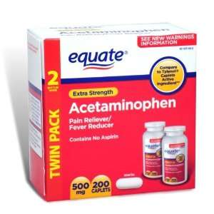 Equate Extra Strength Value Pack Acetaminophen, Pain Reliever/ Fever