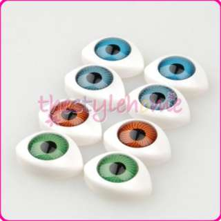 8PCs Hollow Plastic Doll Eyeballs Eyes Halloween Prop