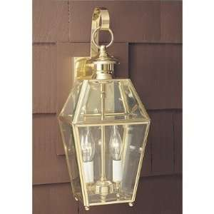 Colony 17 Two Light Outdoor Wall Mount Lantern Finish Polished Brass