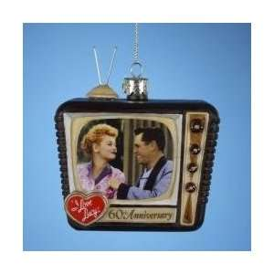 I Love Lucy 60th Anniversary TV Glass Christmas Ornament