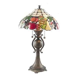 Dale Tiffany Fruit Medley Art Glass Table Lamp