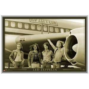 Led Zeppelin on Tour Framed Poster