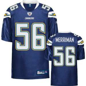 Shawne Merriman Jersey Reebok Authentic Navy #56 San Diego Chargers