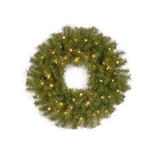 Pre Lit Norwood Fir Wreath with Concave LED Lights and
