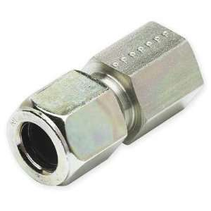 PARKER 8 8 GBU S Female Connector,Compression,Tube 1/2 In