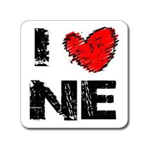 I Love Heart NE   NEBRASKA   Window Bumper Laptop Sticker
