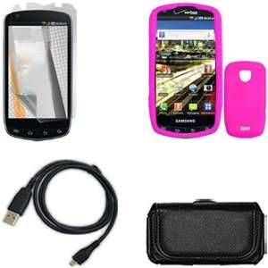 Samsung Stealth i520/i510 Combo Trans. Hot Pink Silicone