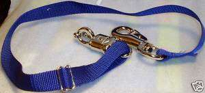 Horse Trailer Tie with Panic Snap & Bull Snap New Blue