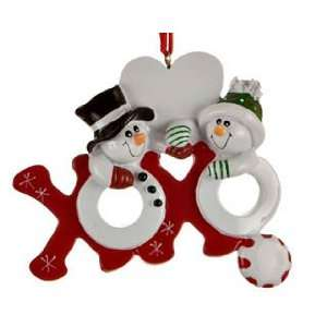 Hugs and Kisses Couple Christmas Ornament