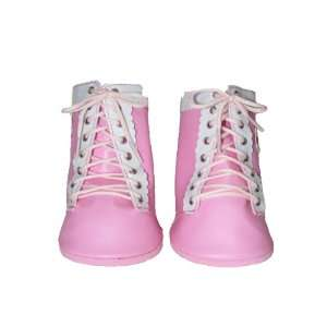 Pink Straps Boots Shoes Teddy Bear Clothes Fit 14   18