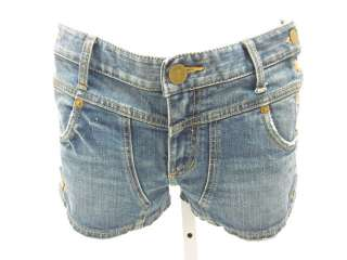 BLUE NOTCH JEANS Side Button Denim Jean Shorts Sz 28