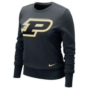 Purdue Boilermakers Womens Nike Black Heather Long Sleeve