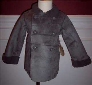 Egg Susan Lazar Faux Fur Shearling Coat Jacket Kids New