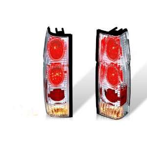 86 97 Nissan Hardbody Altezza Tail Light W/ Halo   Chrome / Clear (Rl