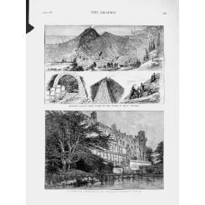 1874 Railway Train Naples Mount Vesuvius Warwick Castle