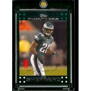 2007 Topps Football # 240 Lito Sheppard   Philadelphia Eagles   NFL