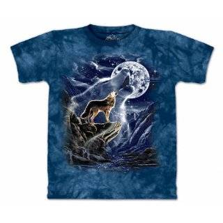 The Mountain Howling Lone Wolf Moon Tee T shirt Clothing