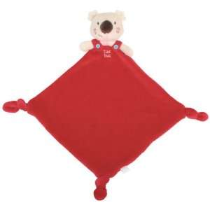 Tuc Tuc Red Koala Little Teether Baby Blankie. 9x9. Baby