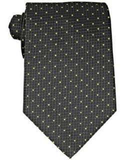 Gucci black dot grid Godwin silk tie