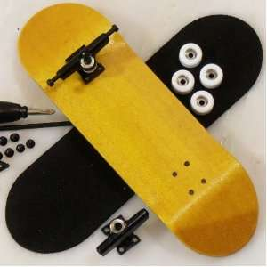 Peoples Republic Complete Wooden Fingerboard   Yellow Toys & Games