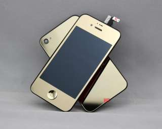 Gold Mirror iPhone 4 LCD Screen Conversion Kit Housing