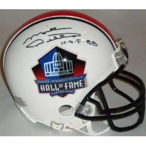 Mike Ditka Autographed Hall of Fame Logo Mini Helmet with HOF 88