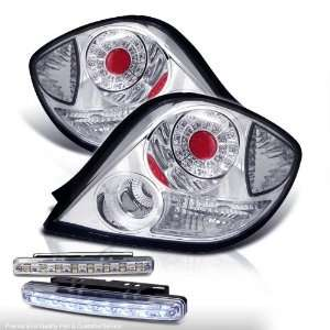 Eautolight 2003 2006 LED Chrome Tail Lights Lamp Pair Brand New + 8