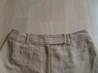 TALBOTS Irish Linen Cotton Blend Flat Front Dress Shorts   Tan