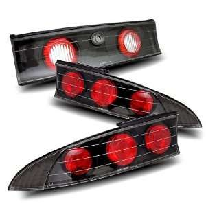 95 99 Mitsubishi Eclipse Black Tail Lights Automotive