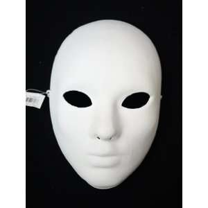 Womens Undecorated Blank White Venetian Whole Face Mask