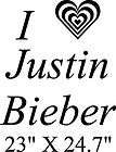 heart Justin Bieber  girls wall decal/ sticker